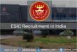 ESIC Recruitment India