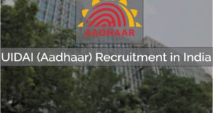 UIDAI Recruitment